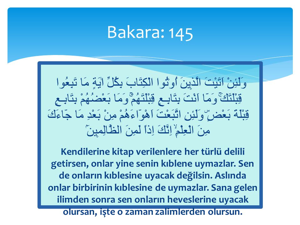 Bakara: 145