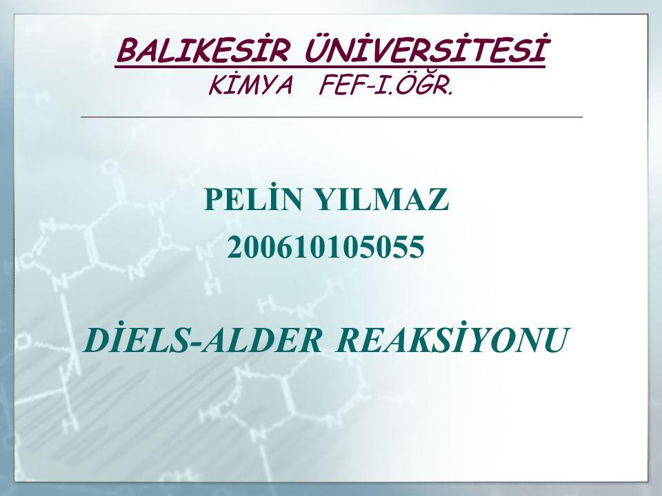 BALIKESİR ÜNİVERSİTESİ KİMYA FEF-I.ÖĞR.