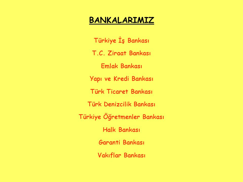 Türk Denizcilik Bankası Türkiye Öğretmenler Bankası