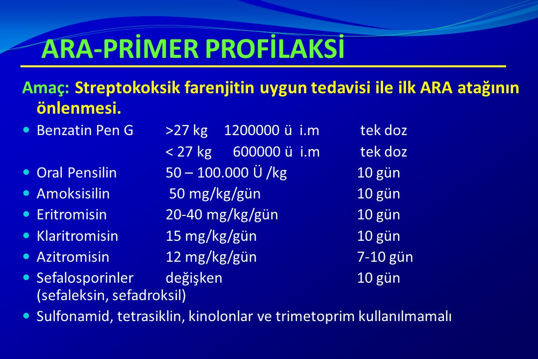 ARA-PRİMER PROFİLAKSİ