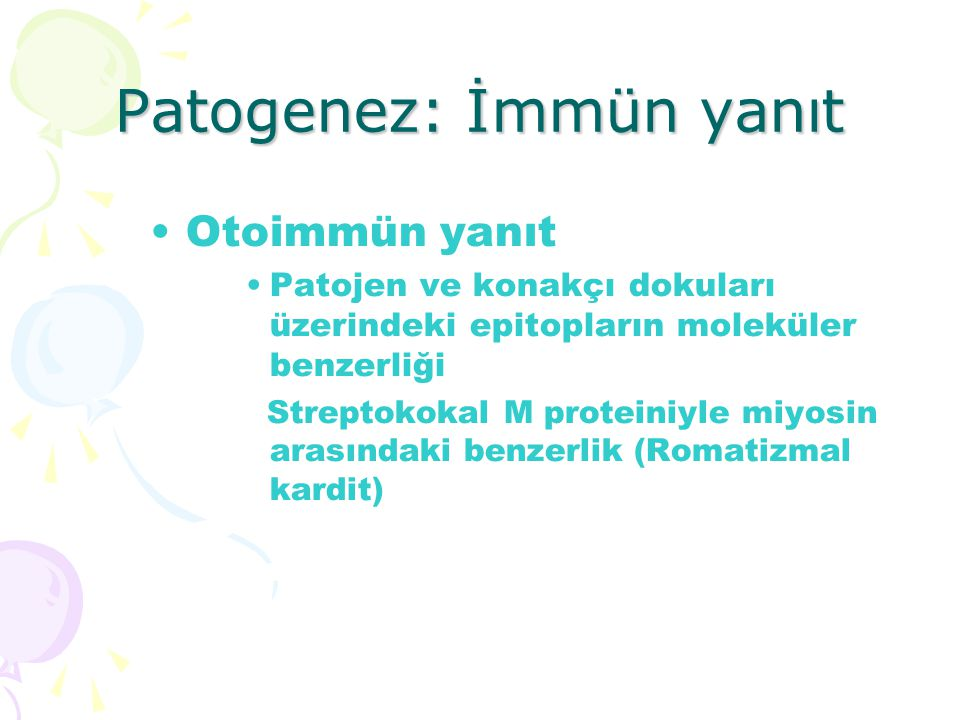 Patogenez: İmmün yanıt