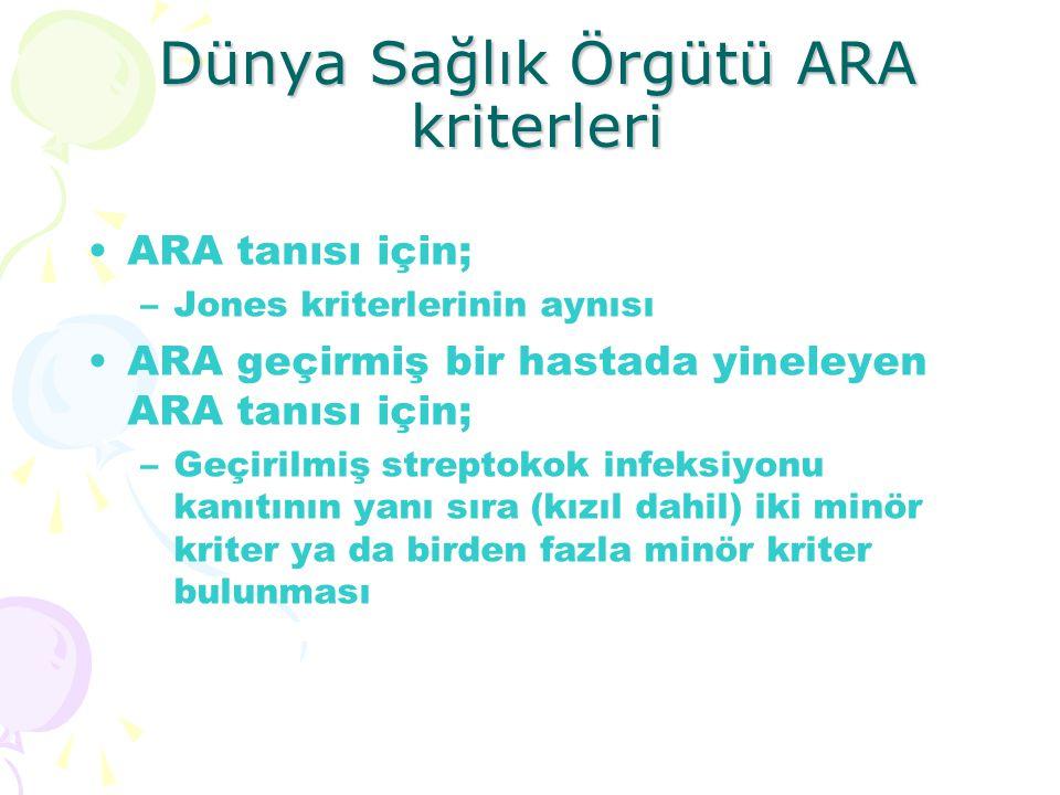 Dünya Sağlık Örgütü ARA kriterleri