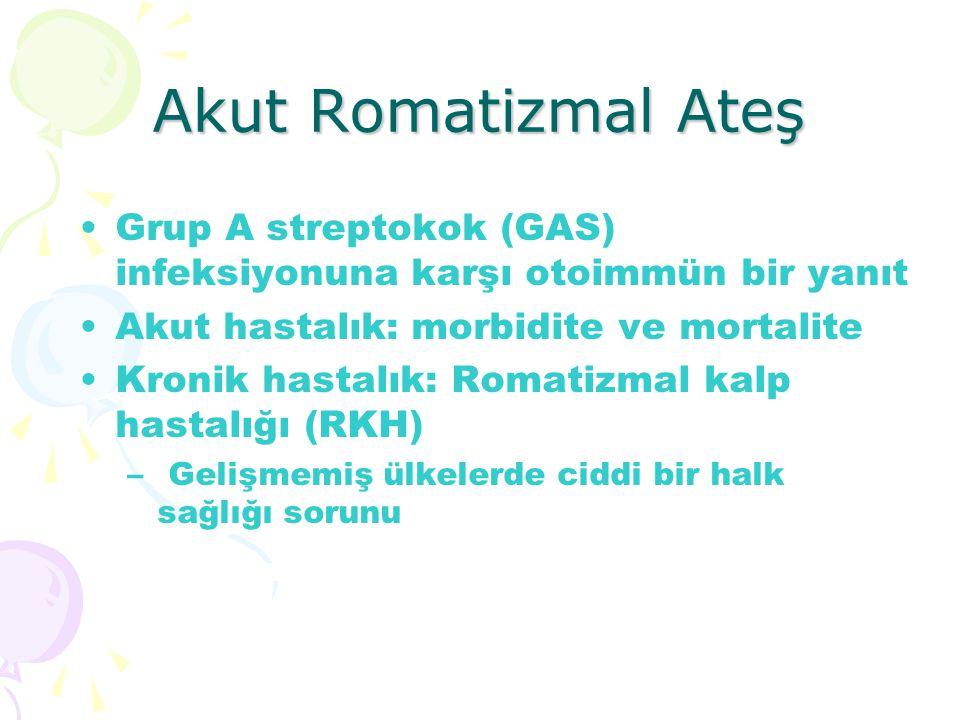 Akut Romatizmal Ateş Grup A streptokok (GAS) infeksiyonuna karşı otoimmün bir yanıt. Akut hastalık: morbidite ve mortalite.