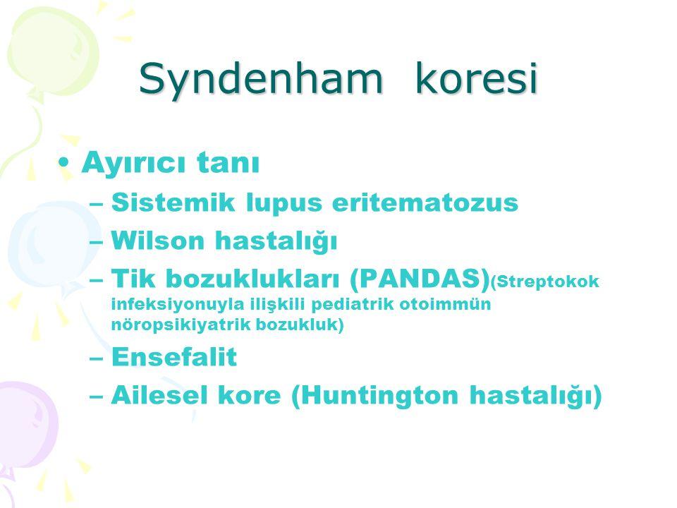 Syndenham koresi Ayırıcı tanı Sistemik lupus eritematozus