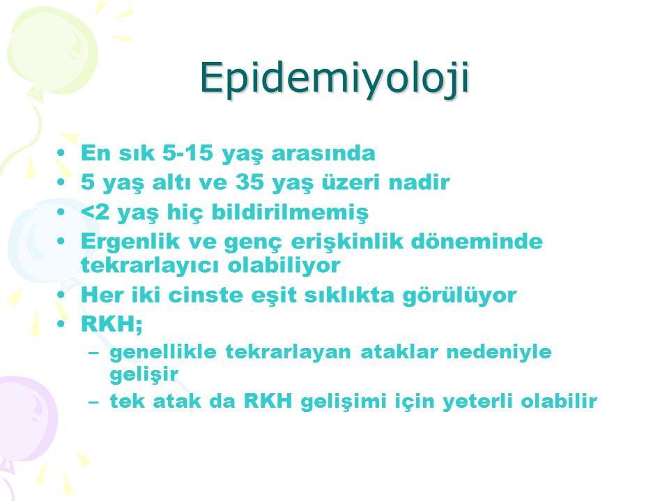 Epidemiyoloji En sık 5-15 yaş arasında