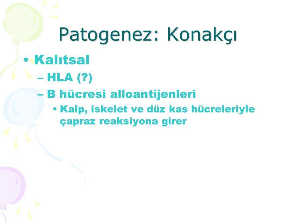 Patogenez: Konakçı Kalıtsal HLA ( ) B hücresi alloantijenleri