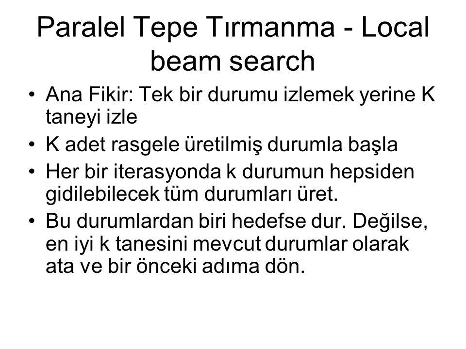 Paralel Tepe Tırmanma - Local beam search