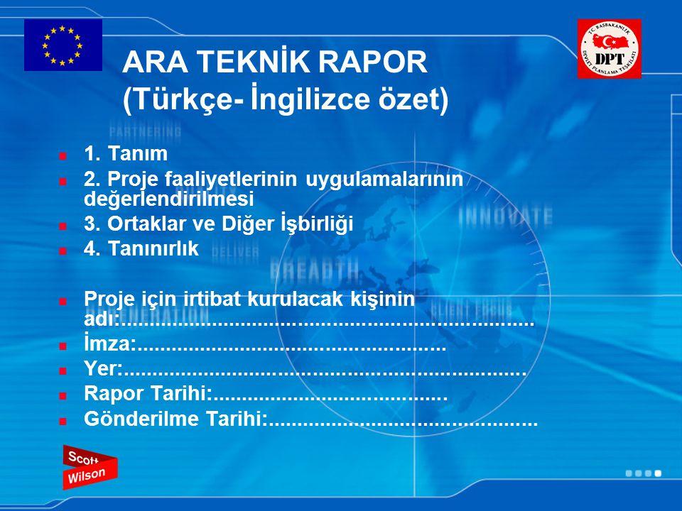 ARA TEKNİK RAPOR (Türkçe- İngilizce özet)