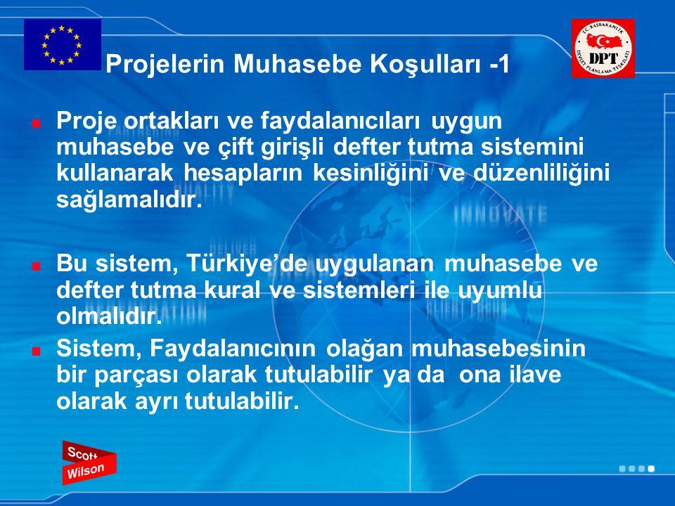 Projelerin Muhasebe Koşulları -1