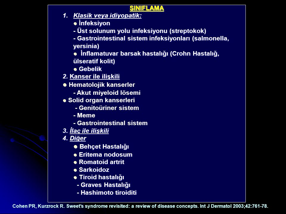 ● Hematolojik kanserler
