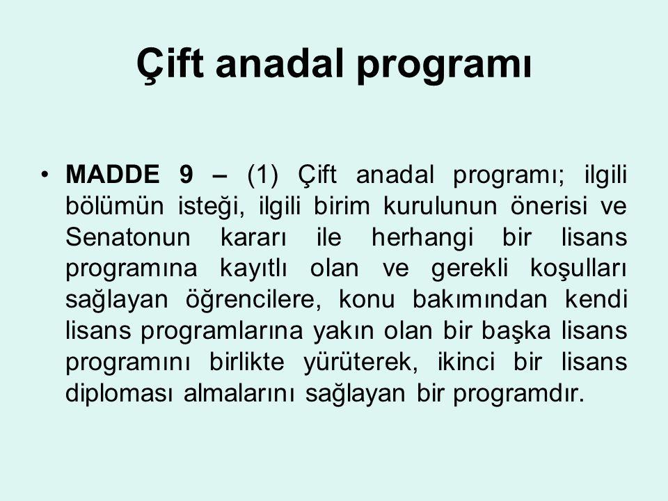 Çift anadal programı