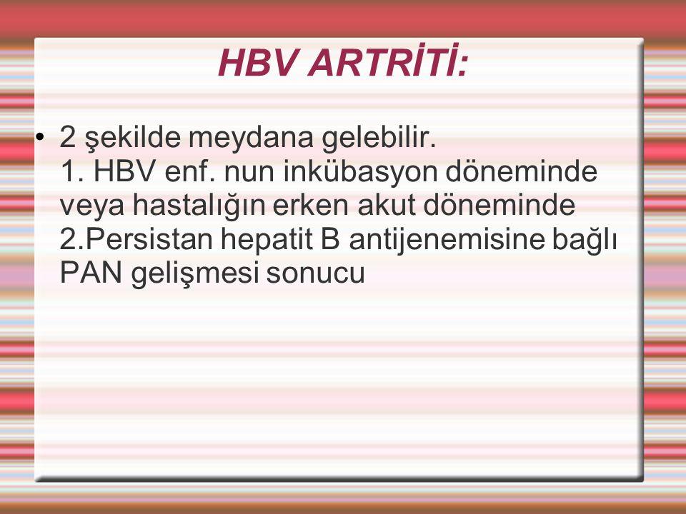 HBV ARTRİTİ: