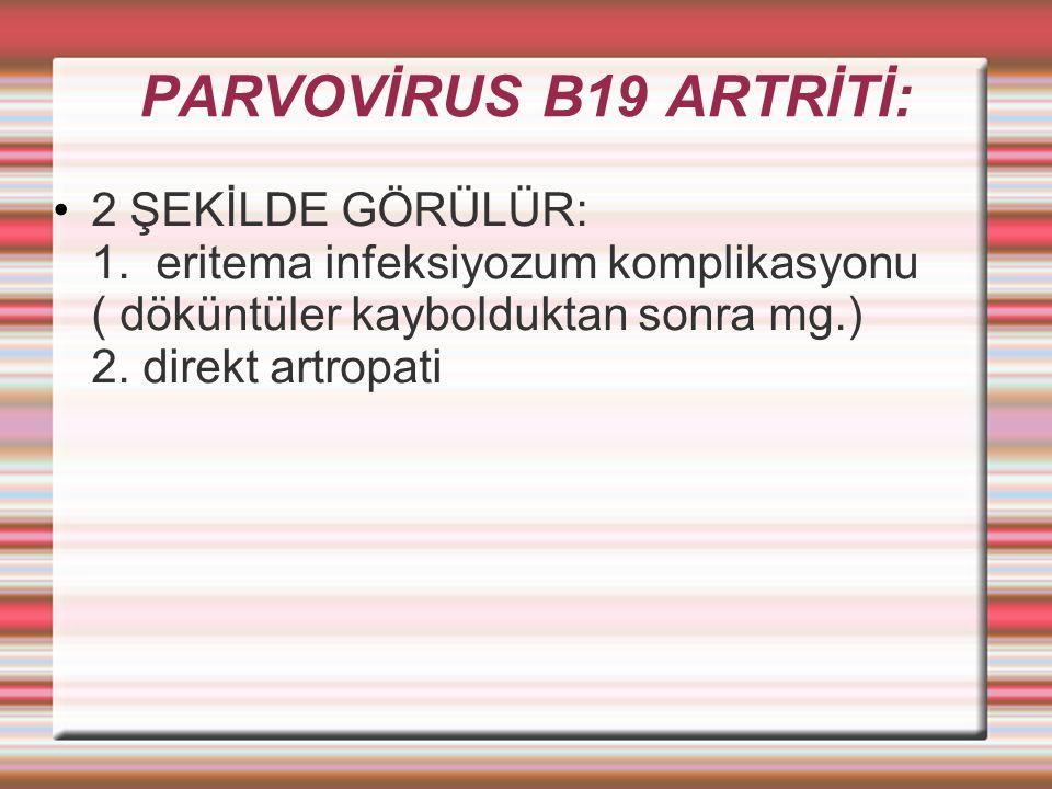 PARVOVİRUS B19 ARTRİTİ: