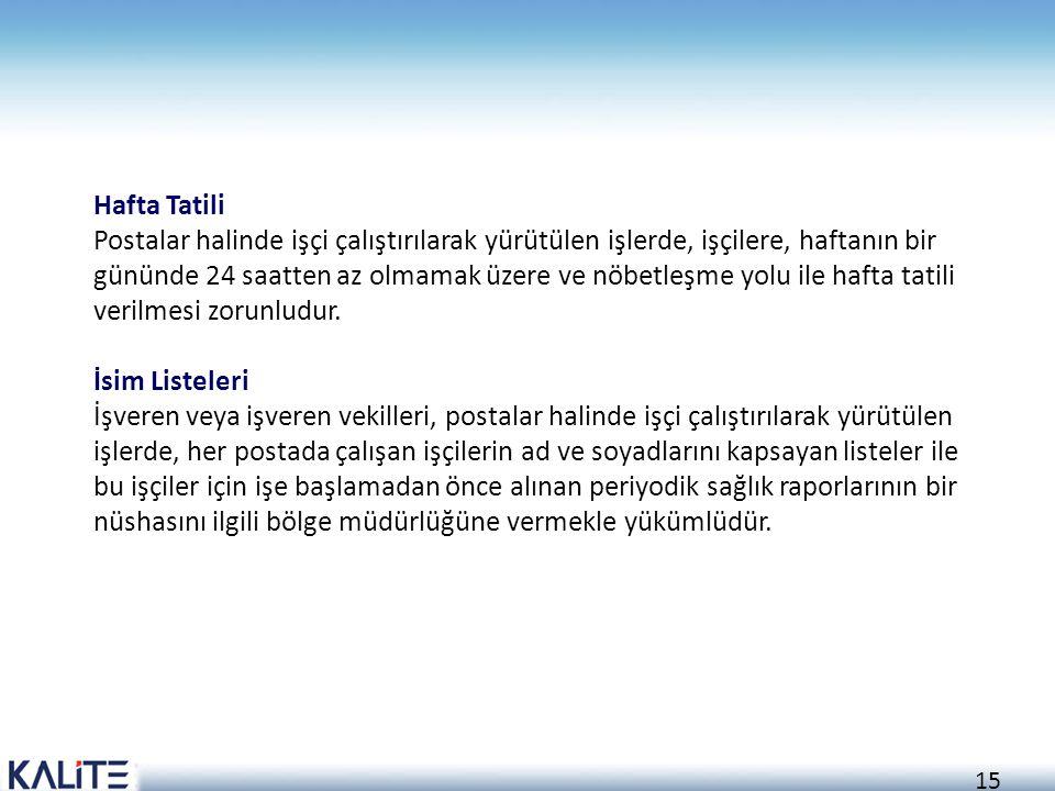 Hafta Tatili