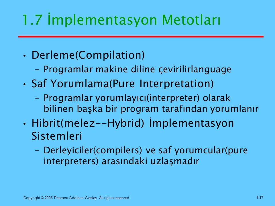 1.7 İmplementasyon Metotları