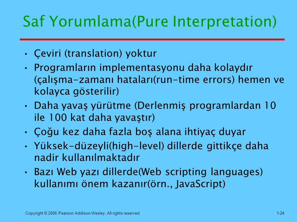 Saf Yorumlama(Pure Interpretation)