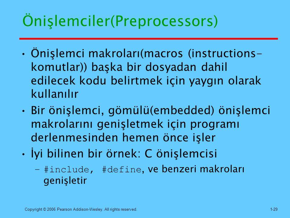 Önişlemciler(Preprocessors)