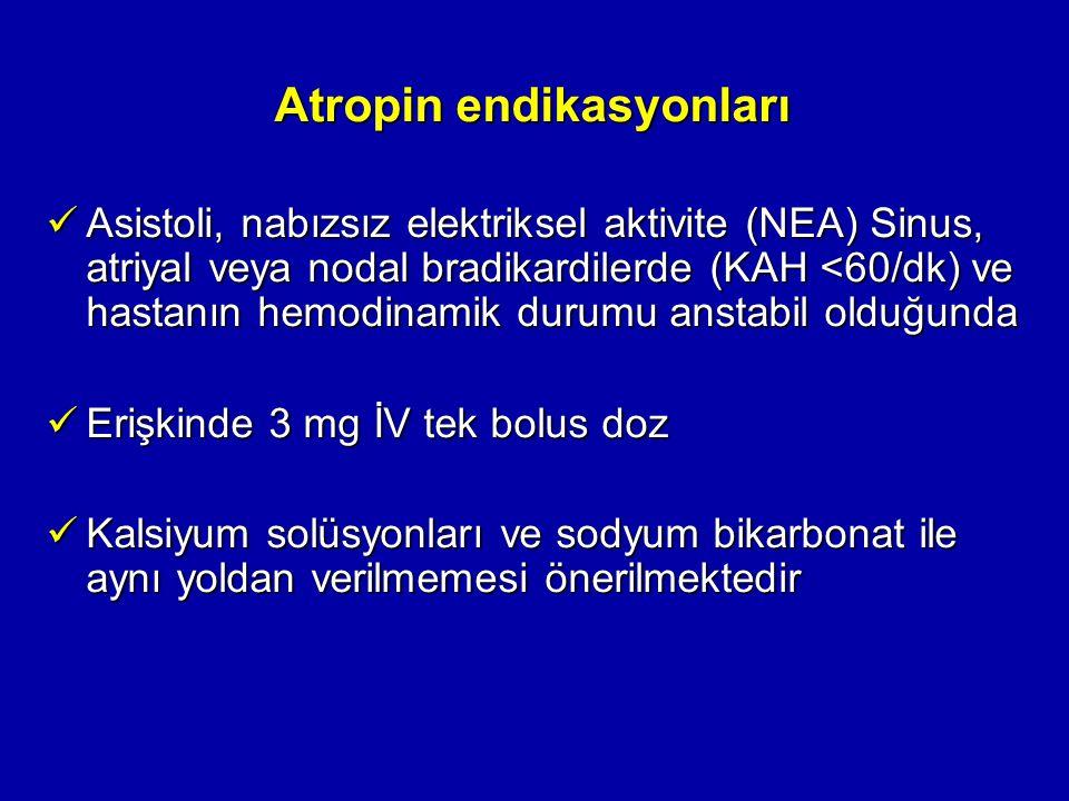 Atropin endikasyonları