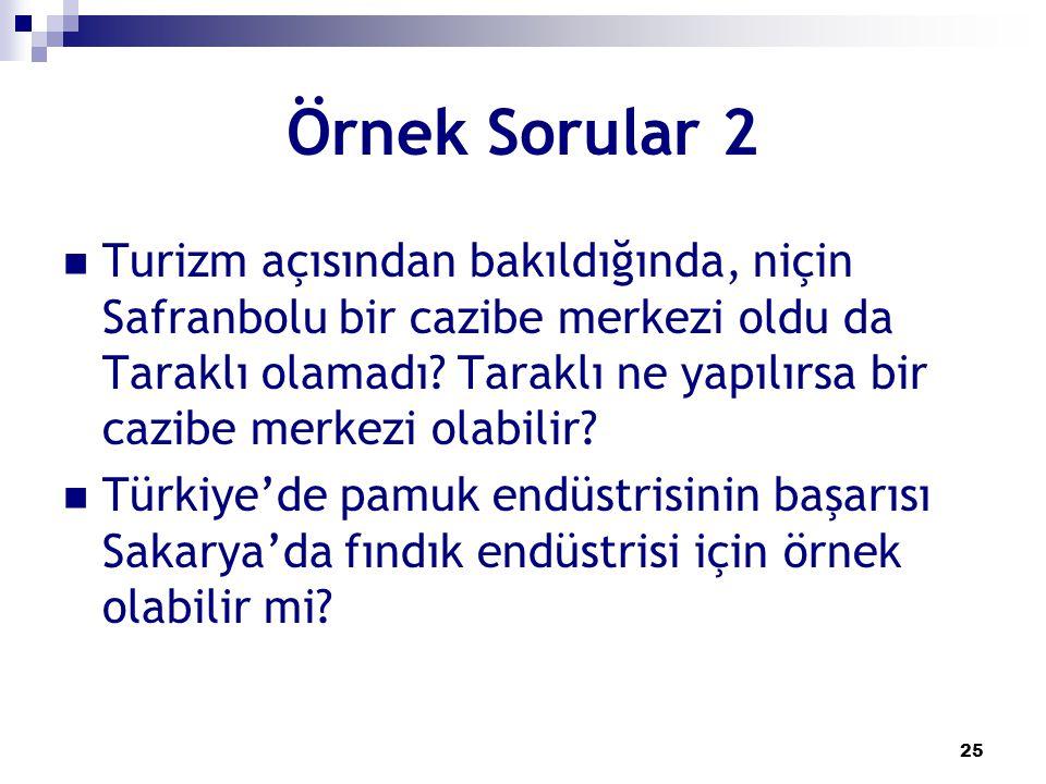 Örnek Sorular 2