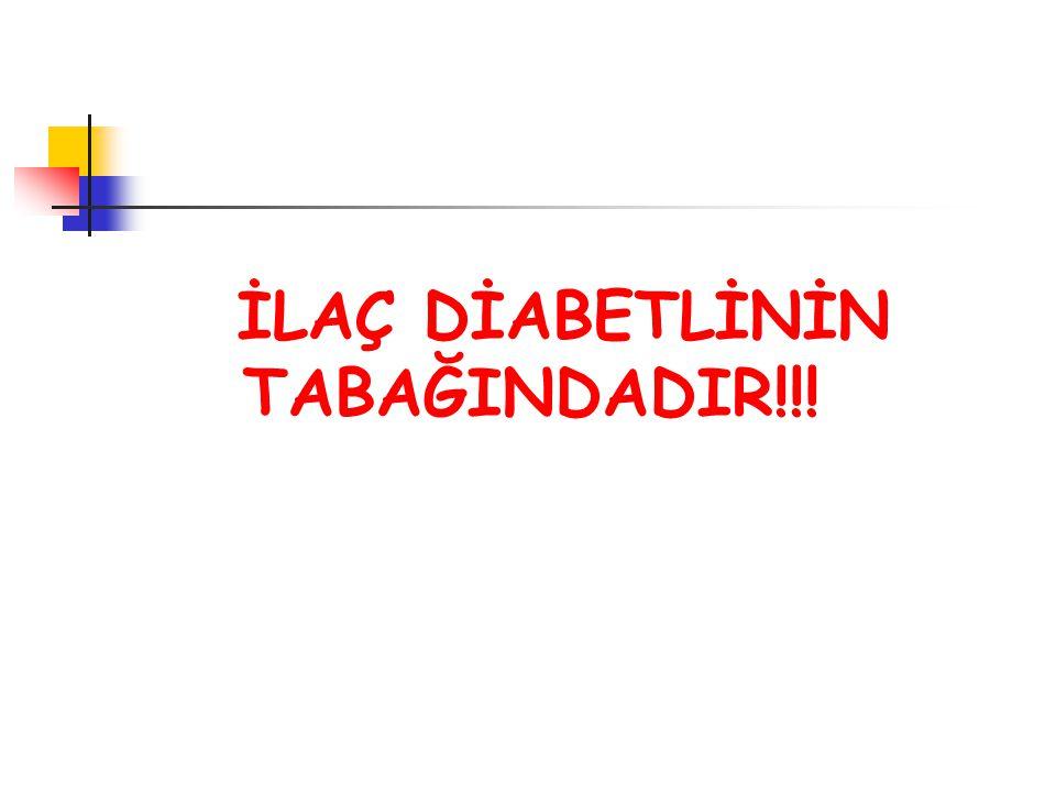 İLAÇ DİABETLİNİN TABAĞINDADIR!!!
