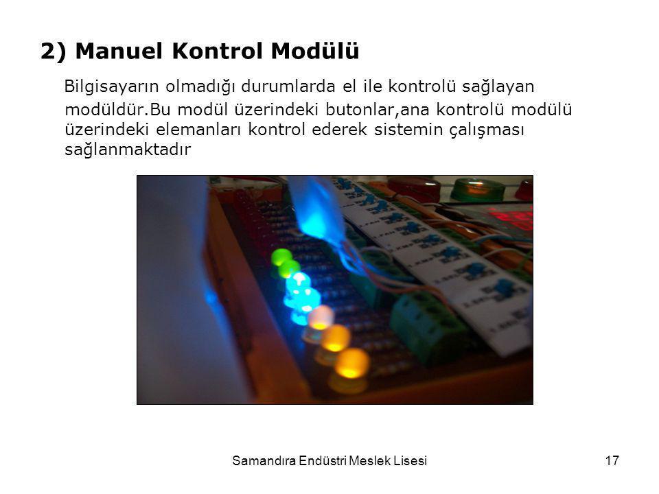 2) Manuel Kontrol Modülü