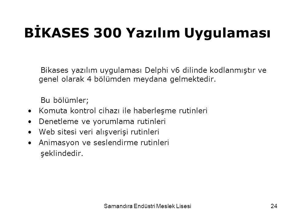 BİKASES 300 Yazılım Uygulaması