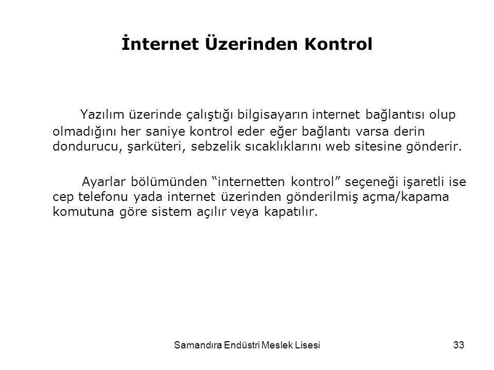 İnternet Üzerinden Kontrol