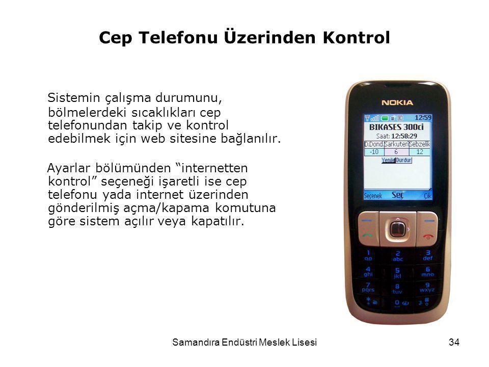 Cep Telefonu Üzerinden Kontrol
