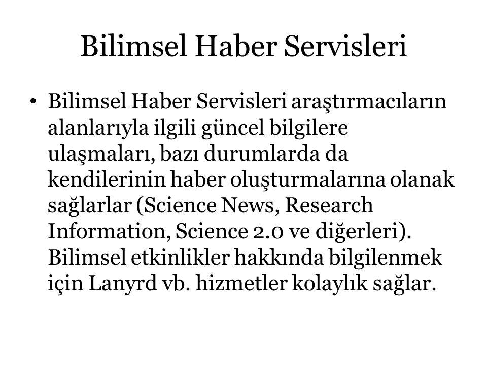 Bilimsel Haber Servisleri