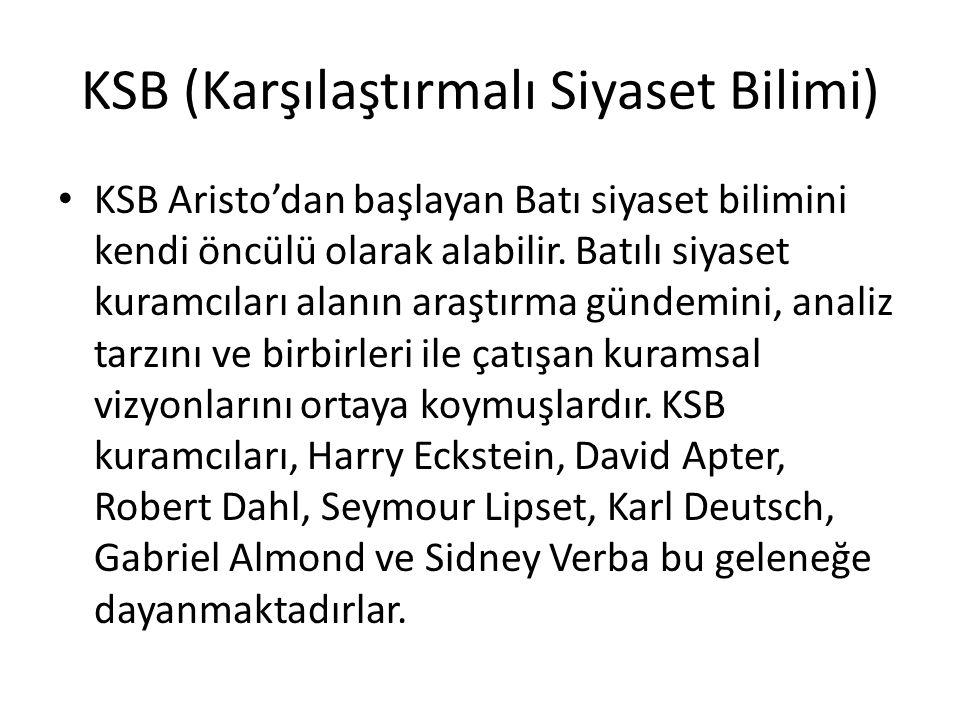 KSB (Karşılaştırmalı Siyaset Bilimi)