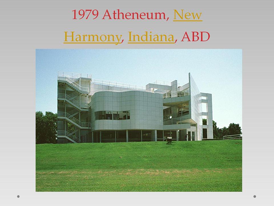 1979 Atheneum, New Harmony, Indiana, ABD