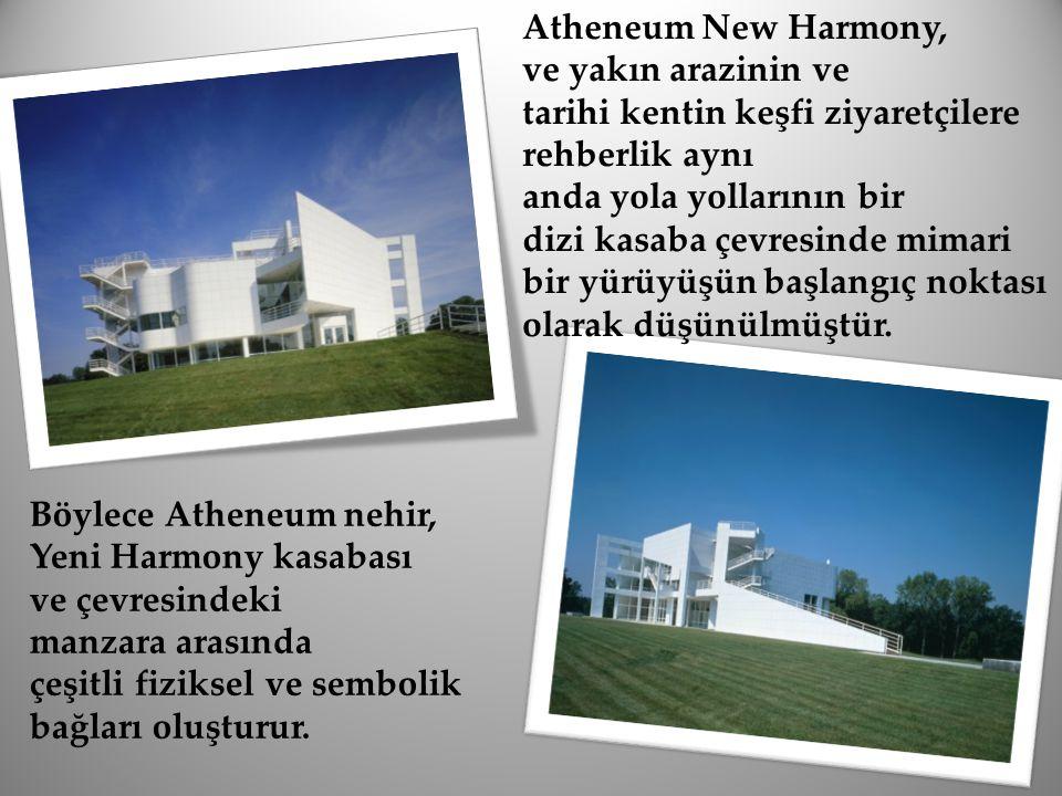 Atheneum New Harmony, ve yakın arazinin ve tarihi kentin keşfi ziyaretçilere