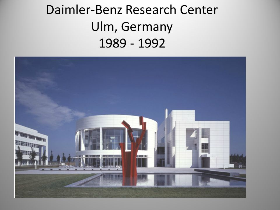 Daimler-Benz Research Center Ulm, Germany 1989 - 1992