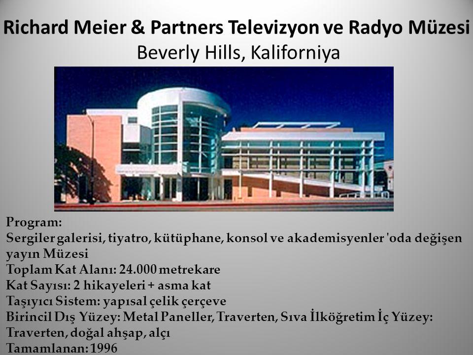 Richard Meier & Partners Televizyon ve Radyo Müzesi Beverly Hills, Kaliforniya
