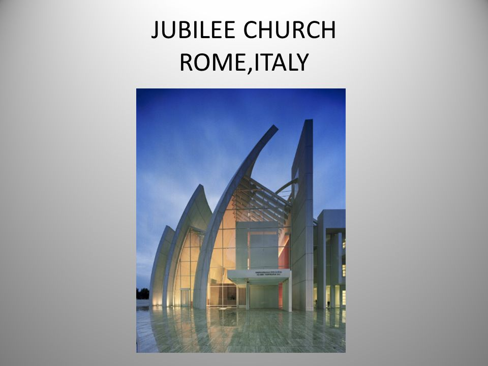 JUBILEE CHURCH ROME,ITALY