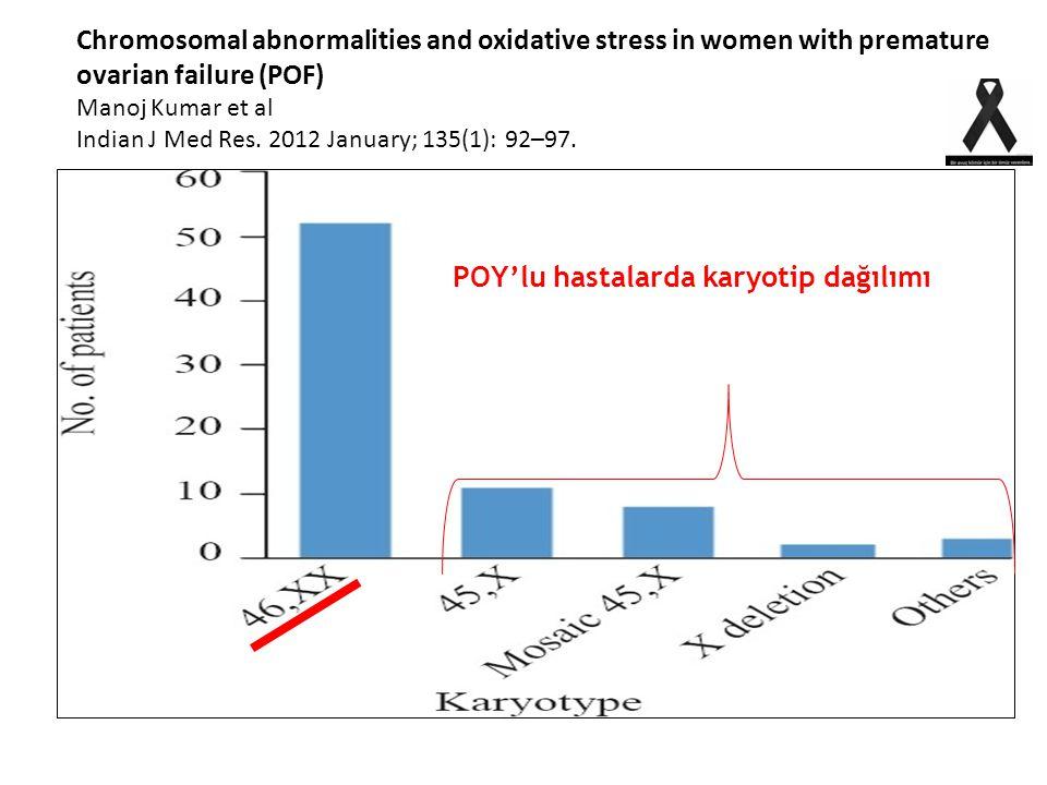POY'lu hastalarda karyotip dağılımı