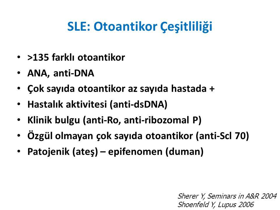 SLE: Otoantikor Çeşitliliği