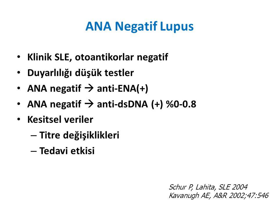 ANA Negatif Lupus Klinik SLE, otoantikorlar negatif