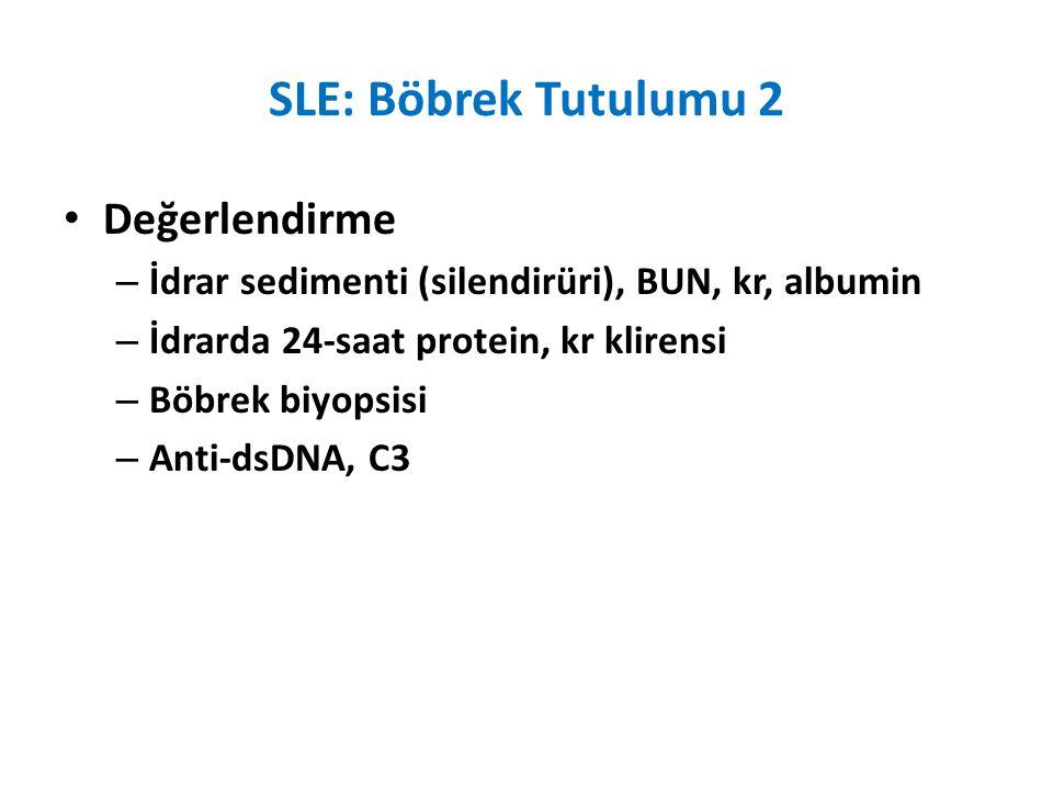 SLE: Böbrek Tutulumu 2 Değerlendirme