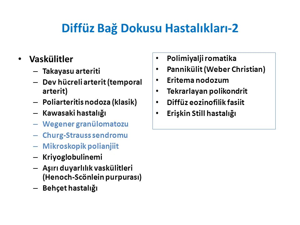 Diffüz Bağ Dokusu Hastalıkları-2