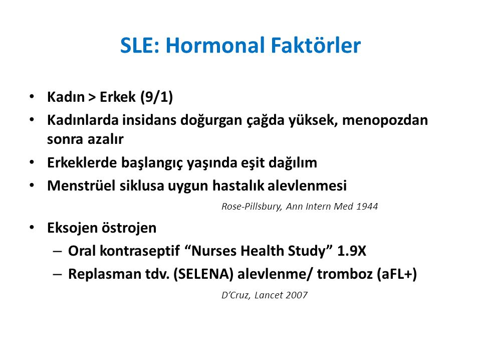 SLE: Hormonal Faktörler