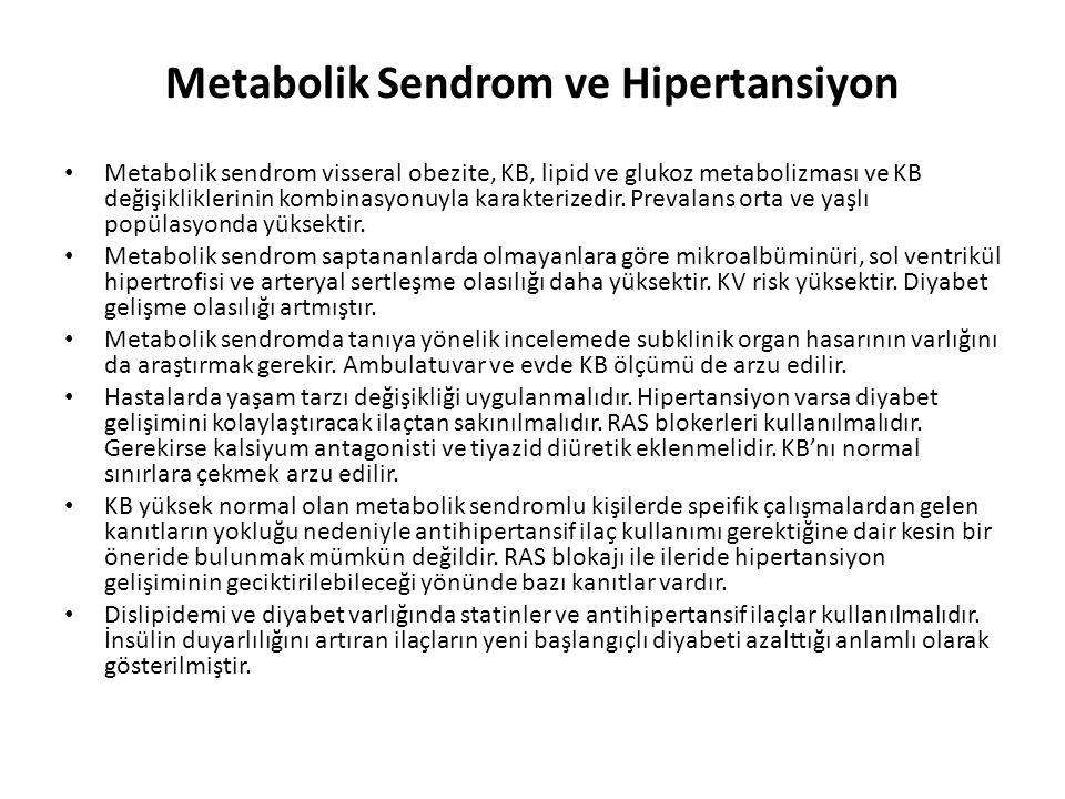 Metabolik Sendrom ve Hipertansiyon