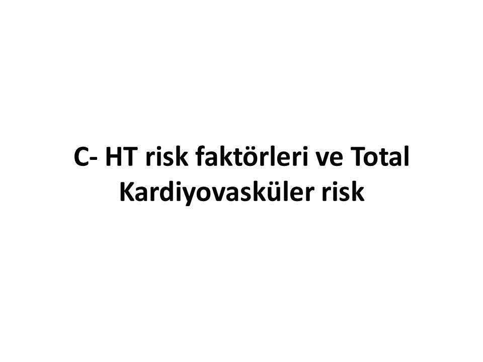 C- HT risk faktörleri ve Total Kardiyovasküler risk