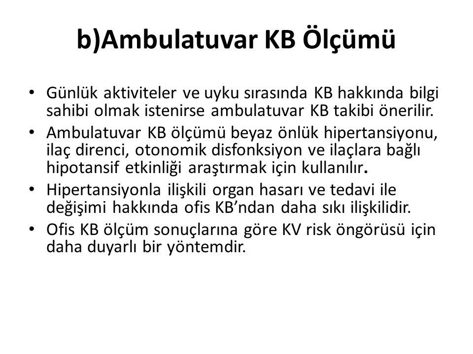 b)Ambulatuvar KB Ölçümü