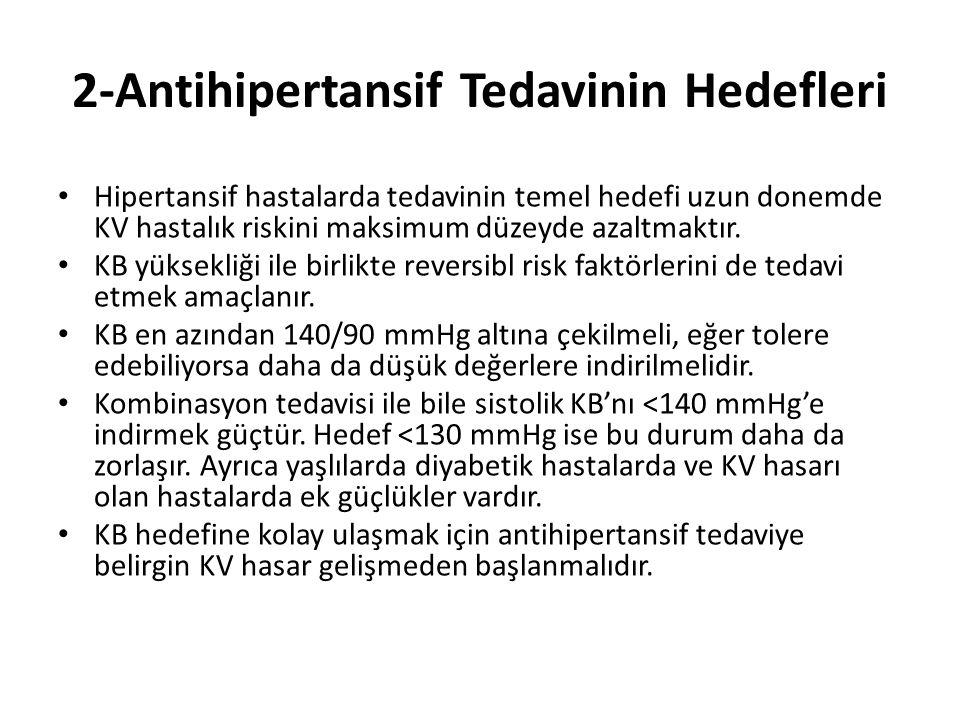 2-Antihipertansif Tedavinin Hedefleri