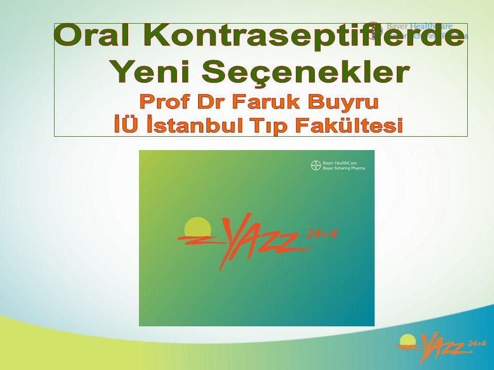 Oral Kontraseptiflerde İÜ İstanbul Tıp Fakültesi