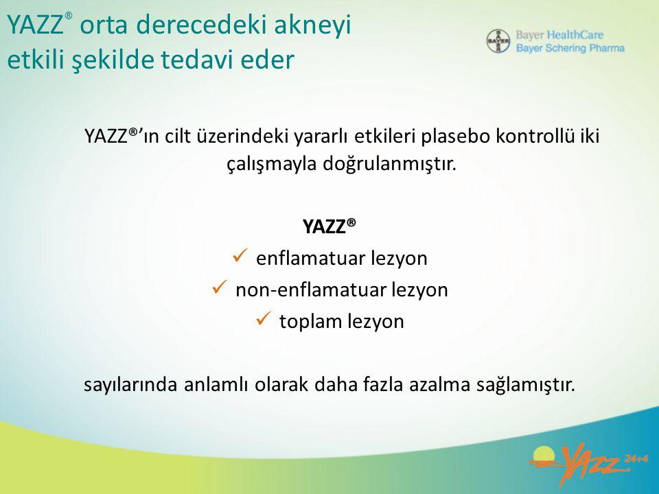 YAZZ® orta derecedeki akneyi etkili şekilde tedavi eder