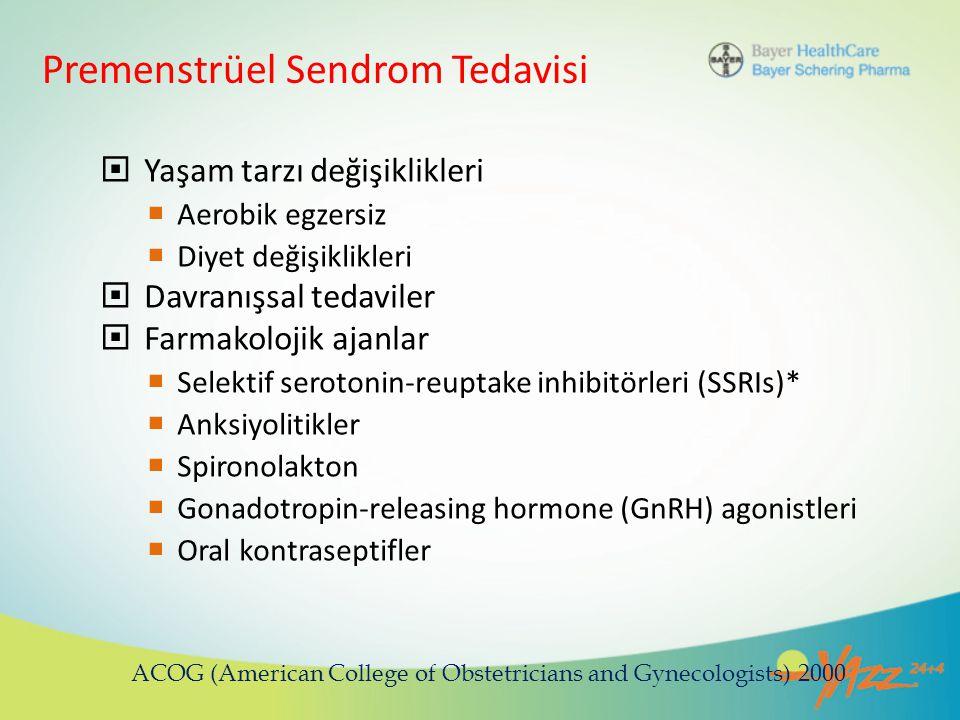 Premenstrüel Sendrom Tedavisi