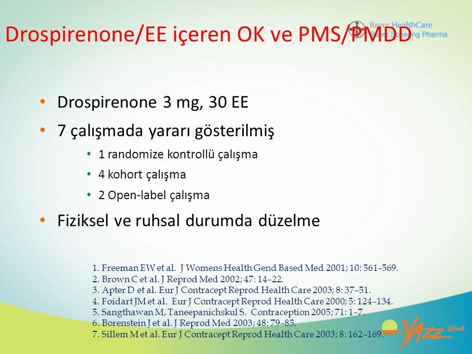 Drospirenone/EE içeren OK ve PMS/PMDD