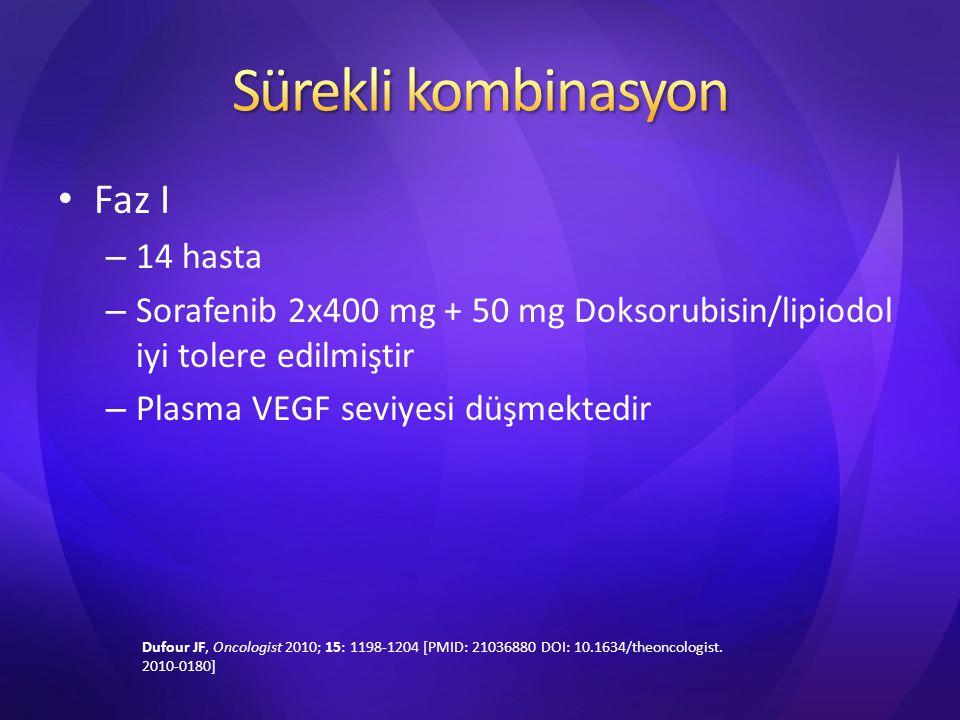 Sürekli kombinasyon Faz I 14 hasta
